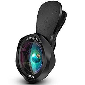 画像: Amazon | スマホ用カメラレンズ クリップ式レンズ 広角レンズ マクロレンズ 自撮りレンズ - Luxsure Apple Android 全機種対応 簡単装着 ローズ型2in1 二年保証 | スマートフォン用カメラレンズ 通販