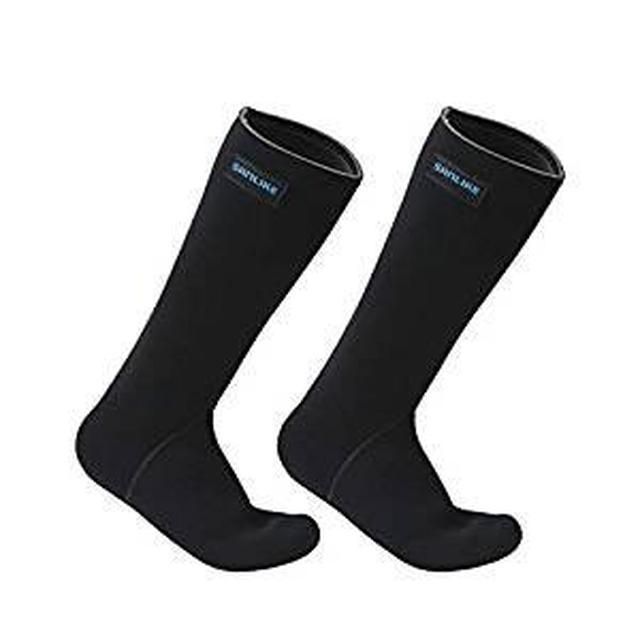 画像: Amazon | サンライク(SANLIKE)ネオプレン ソックス 渓流 靴下 ウエットソックス ネオプレン 靴下 長靴 防寒靴下 防水靴下 通気 登山 スキー サーフィン 釣り ブラック XL | SANLIKE | 防寒・サーモソックス