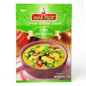 画像: Amazon   メープロイ カレースパイス グリーンカレーペースト 50g×4袋セット   メープロイ   カレー粉・カレーペースト 通販