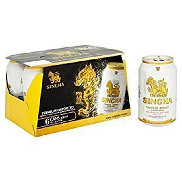 画像: Amazon.co.jp: シンハービール 缶 [ ピルスナー タイ 330ml×24本 ]: 食品・飲料・お酒