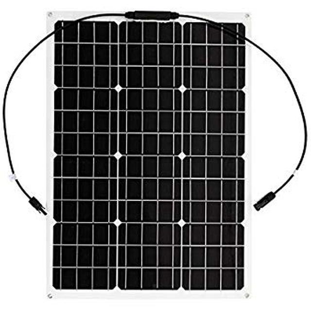 画像: Amazon | [スプレンノ] 50W 単結晶 ソーラーパネル 薄型 軽量 曲げれる 太陽光発電 (70×51cm) | 発電設備