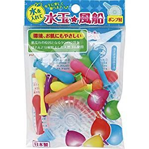 画像: Amazon.co.jp: 水玉風船(ポンプ付) 000033480 【粗品 イベント おもちゃ 記念品 キッズ こども 運動会 風船】: 食品・飲料・お酒