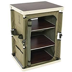 画像: Amazon | DOD(ディーオーディー) マルチキッチンテーブル 引き上げるだけで棚が完成 ぐらつかないロック機構 TB1-38M | DOD(ディーオーディー) | テーブル