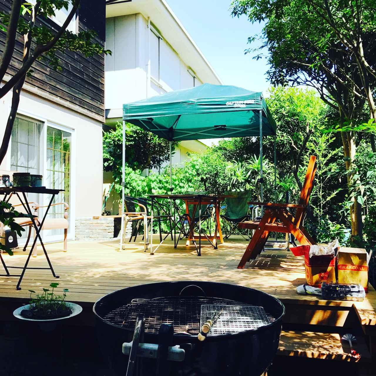 画像: 車庫・庭:キャンプ場デビューの近道・本格的な疑似体験ができる