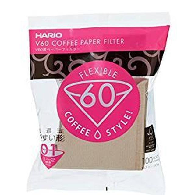 画像: Amazon|HARIO (ハリオ) V60 用 ペーパーフィルター 01M 1~2杯用 100枚入り みさらし VCF-01-100M|コーヒーフィルター オンライン通販