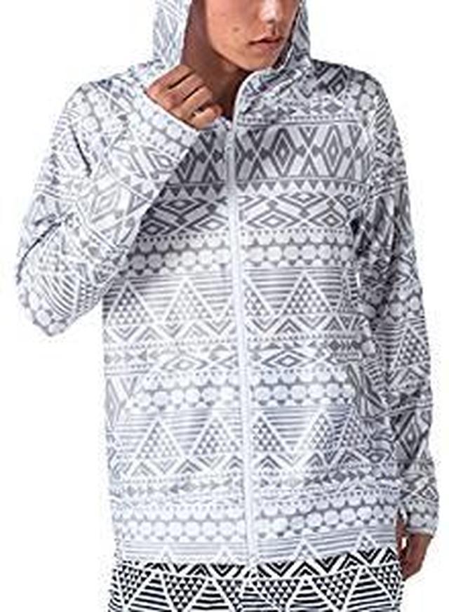 画像: Amazon | PONTAPES(ポンタペス) 無地8色/柄12色 ラッシュガード パーカー メンズ レディース S~3Lサイズ 展開 長袖 UVカット UPF50 + YKKダブルジップ使用 PR-4200 | ポンタペス(PONTAPES) | ラッシュガード