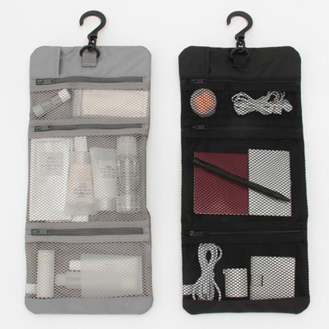 画像: ポリエステル吊るせるケース小物ポケット黒・約12×18cm 通販 | 無印良品