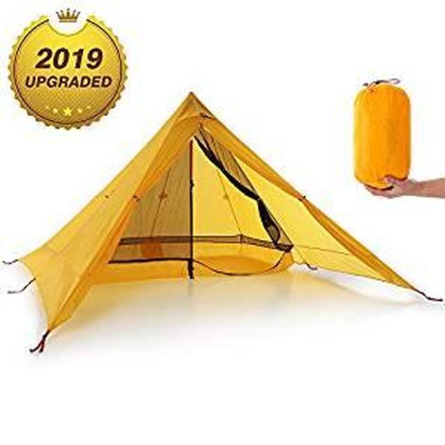 画像: Amazon | Lixada 超軽量2人テント ポータブル バック パックテント 両面シリコン コーティング 耐水性 アウトドア キャンプテント キャンプコットン | LIXADA | テント本体