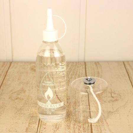 画像: 即日★ハーバリウムランプ用ガラス容器・オイルセット(約42時間燃焼)