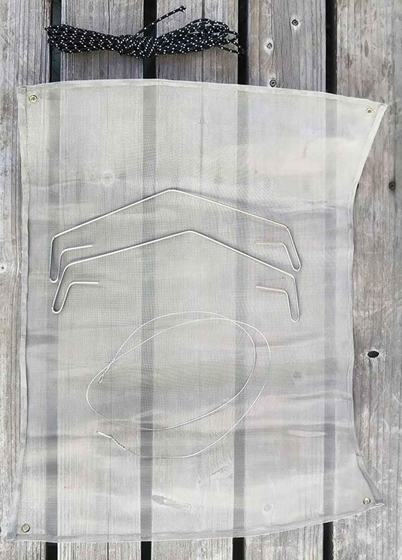 画像: 筆者撮影 針金を約2メートルの長さで切ったら丸めておく