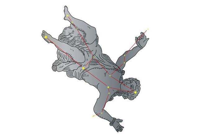 画像: アンドロメダ座は、鎖でつながれた姫の姿