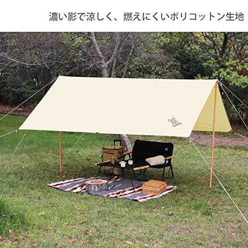 画像2: 【レビュー】DOD「チーズタープ」は超大型で大人数キャンプにおすすめ!夏も涼しく火の粉に強い