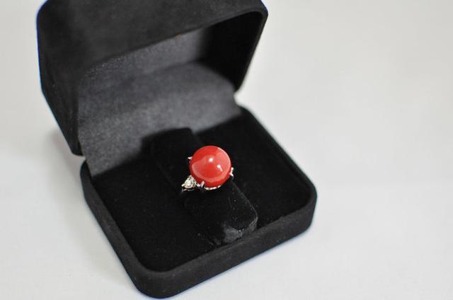 画像: 宝石に加工される珊瑚の中でも最高峰の品質とされる「血赤珊瑚」