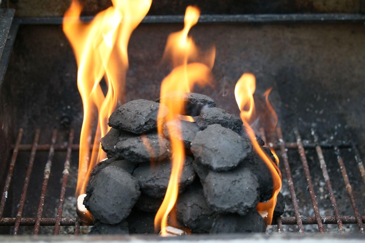 画像: 火起こしのコツ2:新聞紙や小枝を併用すると燃えやすくなる