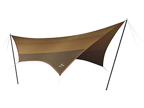 画像2: オープンタープの基本的な張り方を伝授 一人で簡単設営! 雨・風が強い日のポイントも紹介