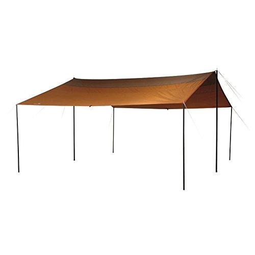 画像1: オープンタープの基本的な張り方を伝授 一人で簡単設営! 雨・風が強い日のポイントも紹介
