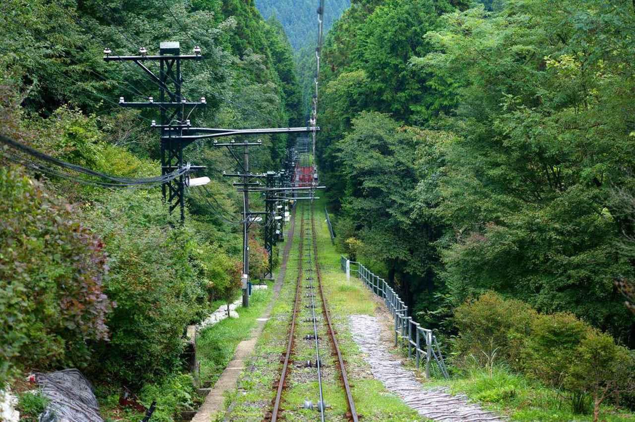 画像: 筆者撮影:ケーブルカー線路