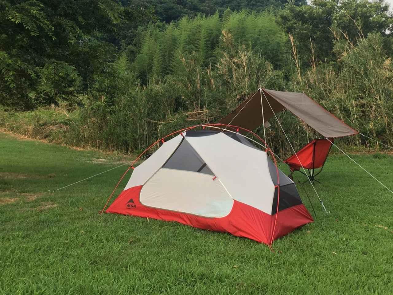 画像: esさん撮影:これがesさんが「最初のテント」として選んだMSRエリクサー2!