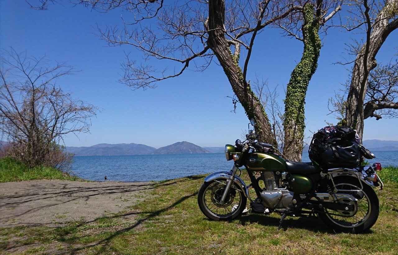 画像: esさん撮影・時間が許せばほぼ季節を問わずバイク&キャンプを楽しんでいるesさんの愛車。
