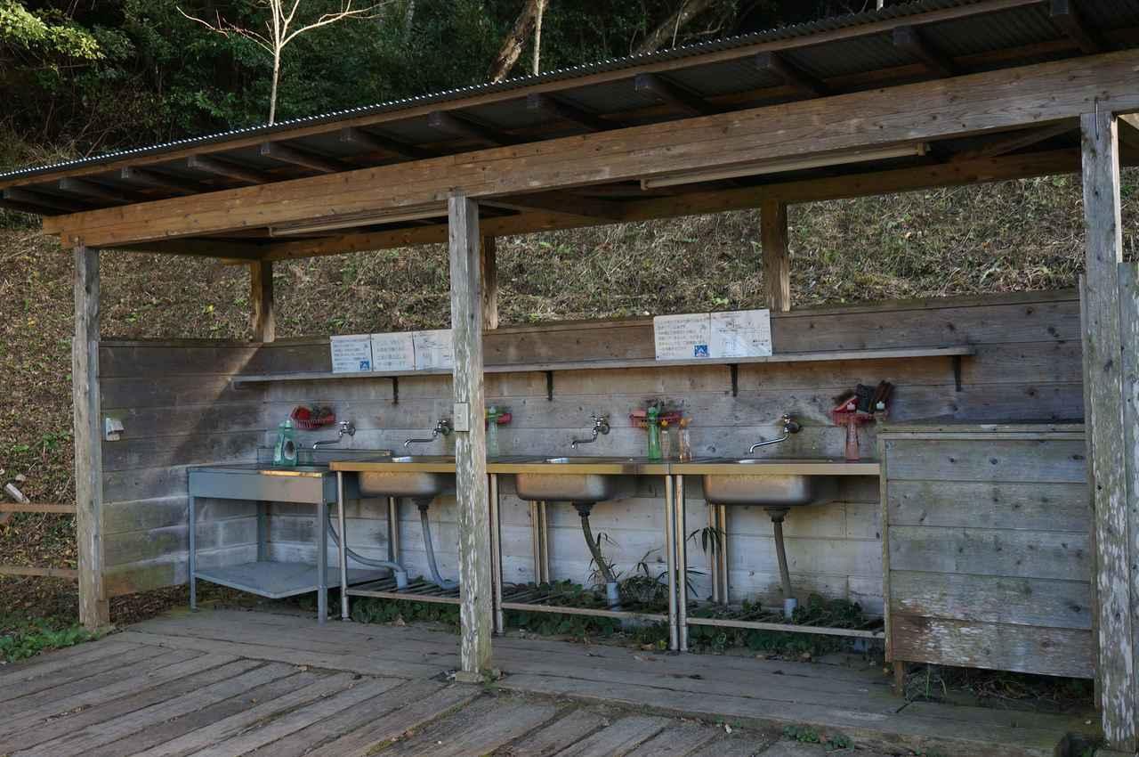 画像: 筆者撮影「炊事場はお湯が出ません」