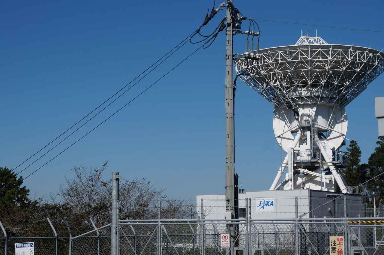 画像: 筆者撮影「人工衛星の追跡と管制を担う通信所を見学できます」