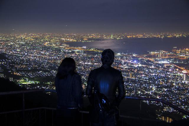 画像: 摩耶山 掬星台の夜景(兵庫県)