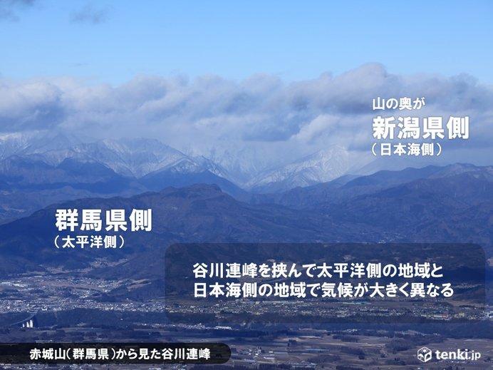 画像: 日本の冬の山の特徴