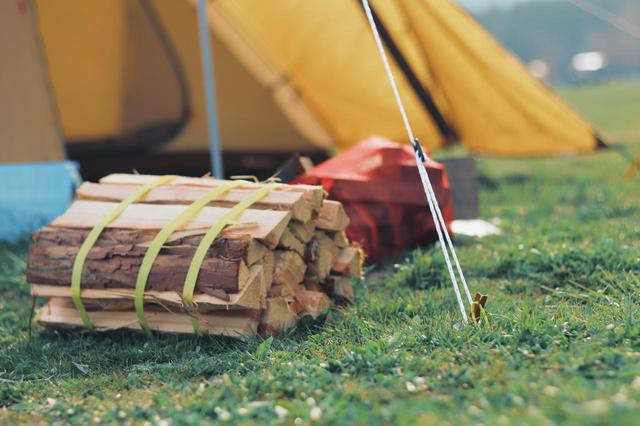 画像: 筆者撮影 焚き火用の薪