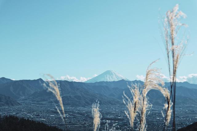 画像: 筆者撮影 山梨県ほったらかしキャンプ場から見た富士山