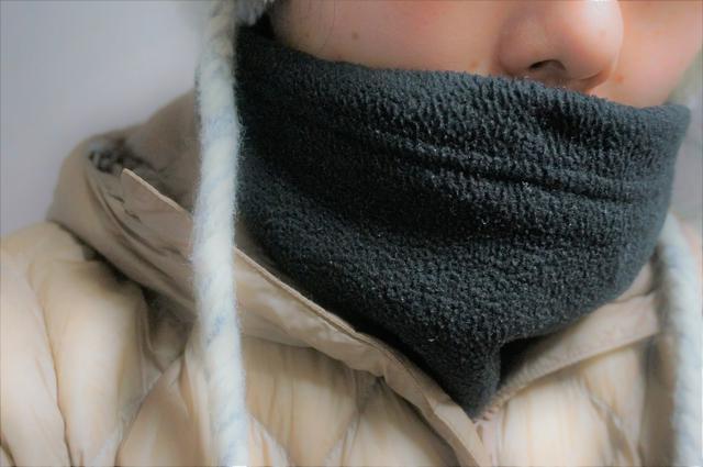画像: 筆者撮影「首元の冷気をしっかり防ぎます」