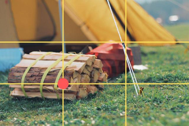 画像: 三分割構図の交点に主役を置く