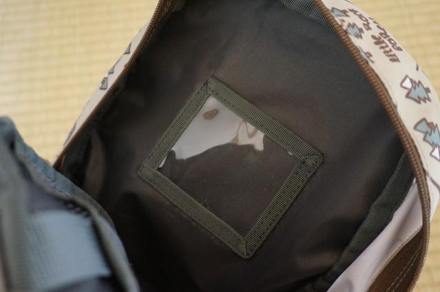 画像: 筆者撮影「通園バッグに便利なネームタグ入れ付き」