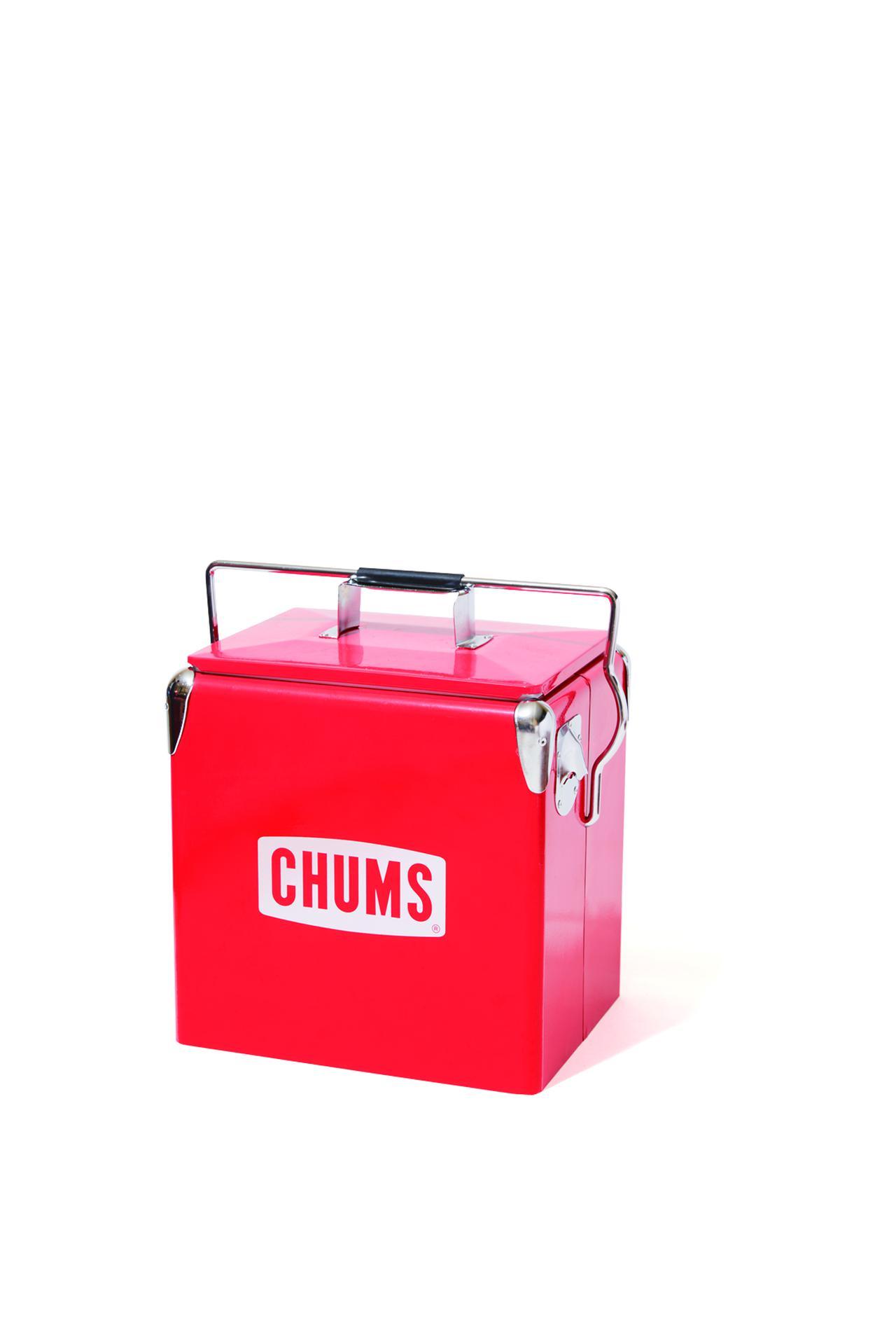 画像: チャムス スチールクーラーボックス W29×H31×D23㎝/約3.6kg/約12リットル (問:チャムス表参道店) fam Autumn Issue2018より