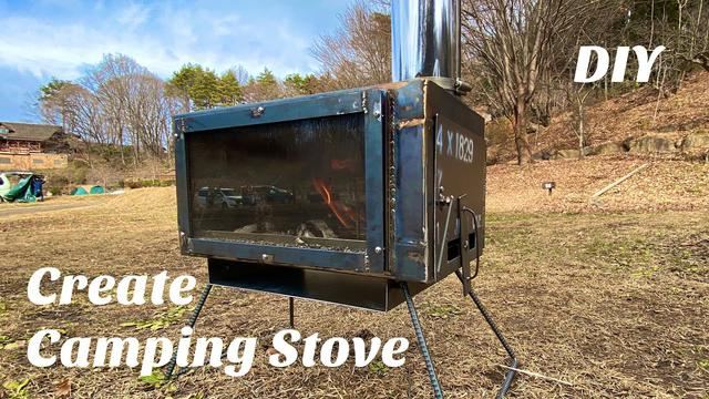 画像: 【初溶接】薪ストーブ自作【DIY】Homemade Wood burning stove Iron welding DIY www.youtube.com