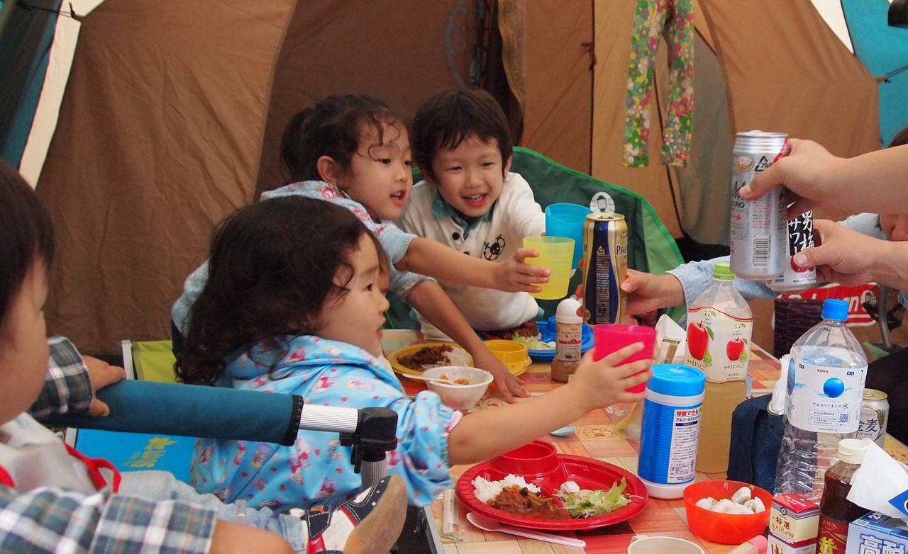画像: 子ども達の人生2回目のキャンプ。6月だけど上着とカイロ持参。
