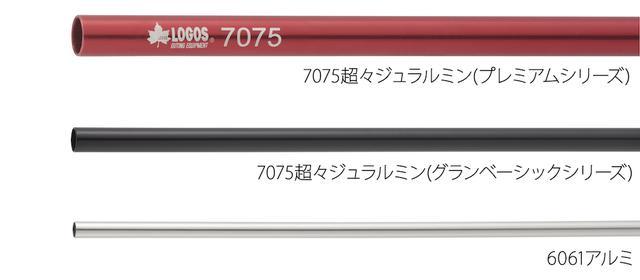 画像: 軽量かつ丈夫な主要フレーム 出典:ロゴスコーポレーション https://www.logos.ne.jp
