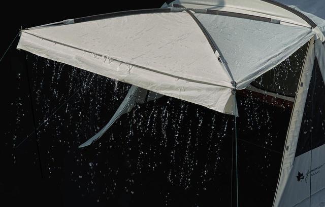 画像: 雨にも強い! 出典:ロゴスコーポレーション https://www.logos.ne.jp