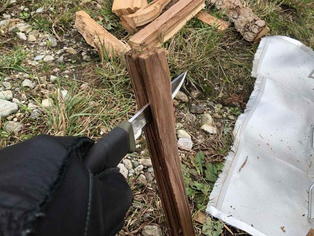 画像: 筆者撮影:針葉樹のバトニング