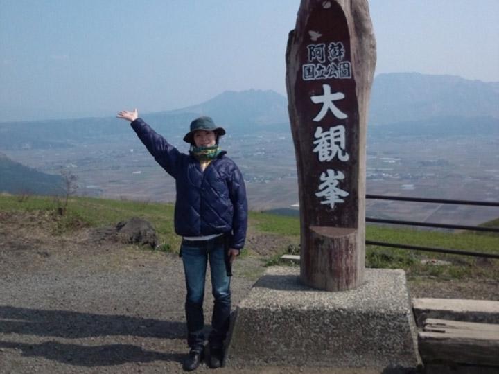 画像: 筆者撮影 5月熊本県阿蘇大観峰にて