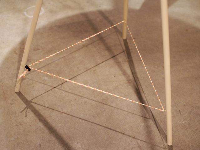 画像: 筆者提供:下部のコードがきれいな三角形になればOK