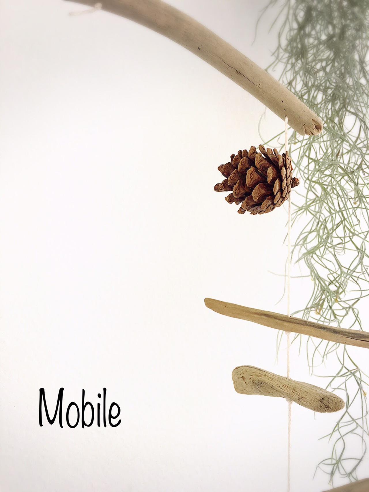 画像: (2) 木の枝でモビールを作る