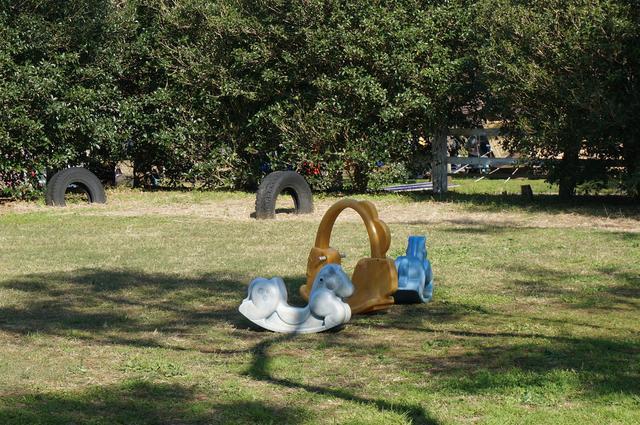 画像: 筆者撮影「小さな子供向けの遊具広場も」