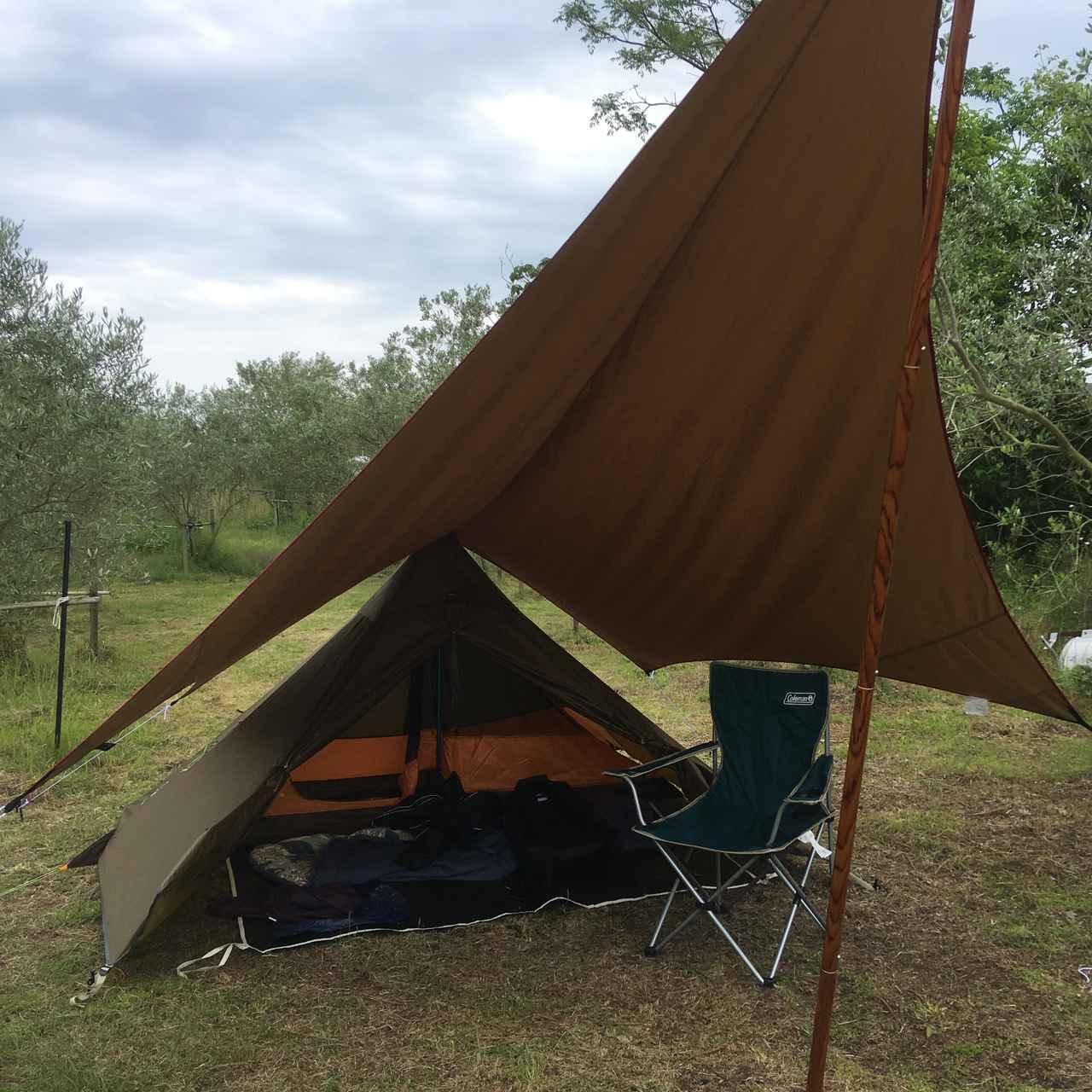画像1: 【タープ選び方のポイント】ソロキャンプでは不要に感じる? 実は紫外線対策や雨対策に最適なアイテム
