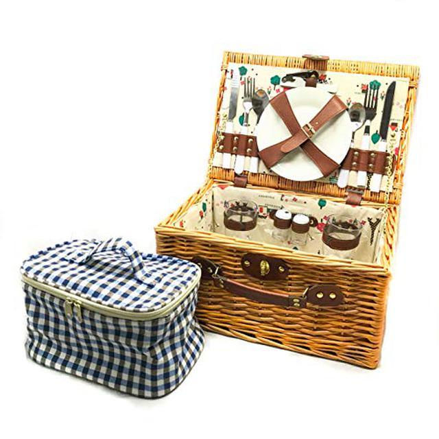 画像4: 【ベランダや庭でピクニック】おしゃれなバスケット・テーブル6選 折りたたみタイプも