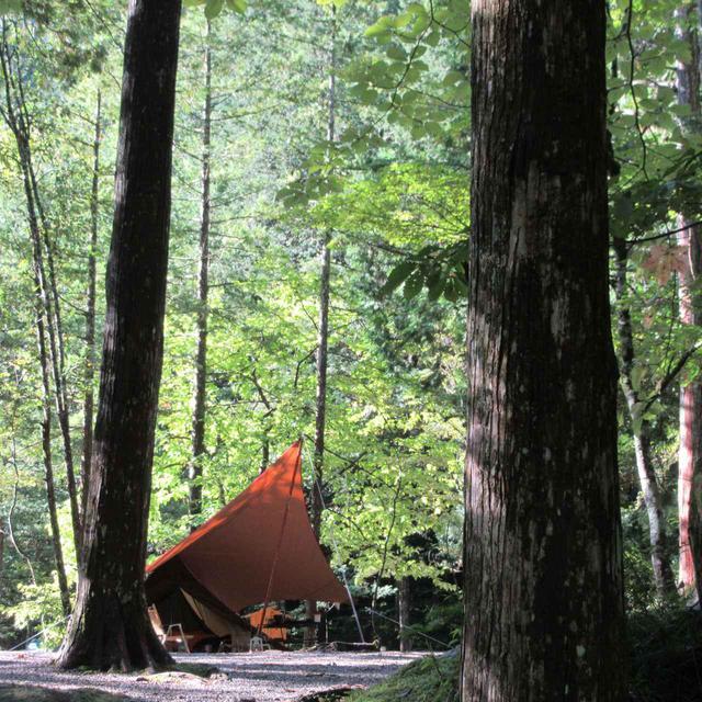 画像: 5)タープでソロキャンプのお洒落度UP