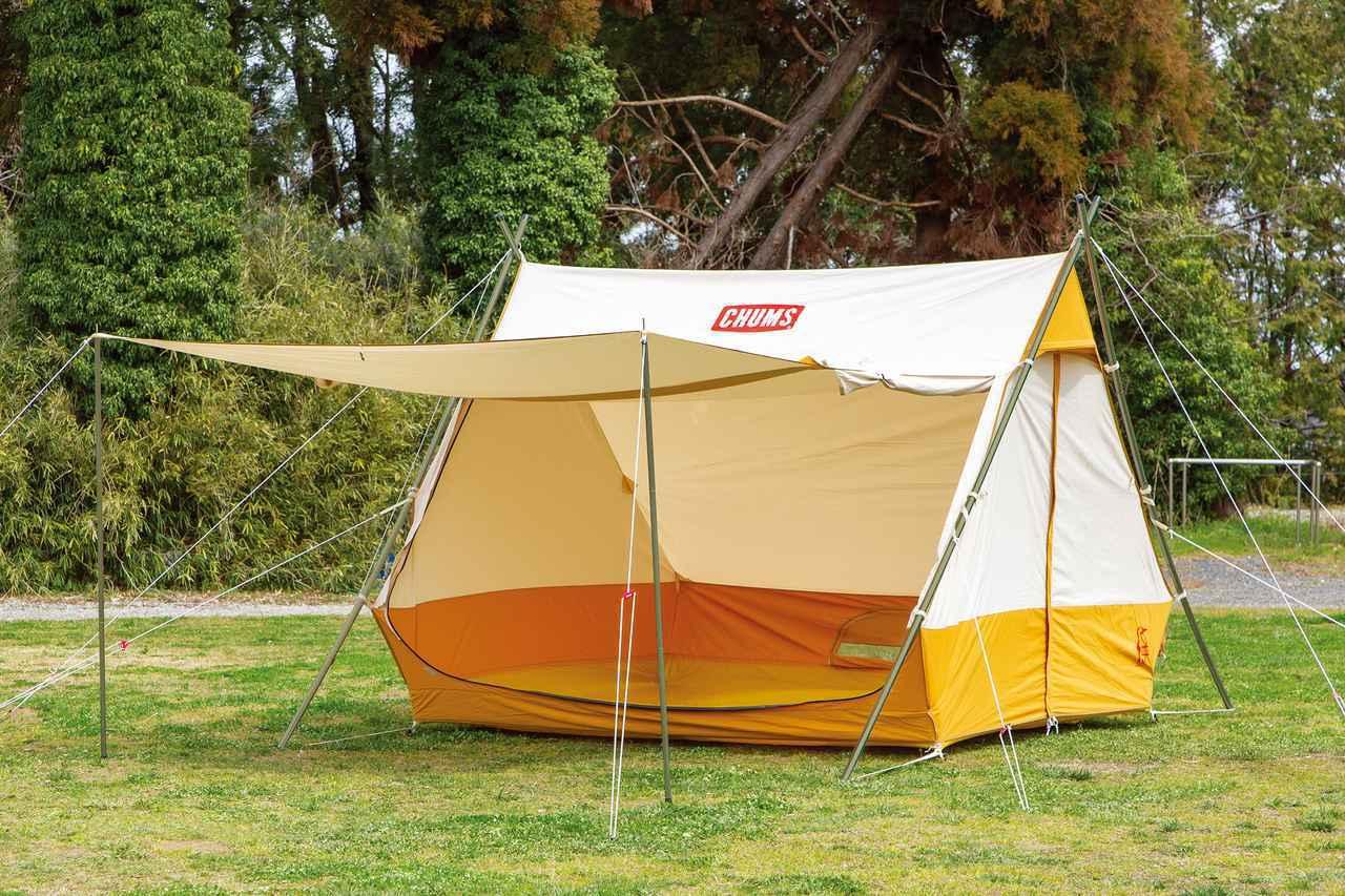 画像: fam_mag Summer Issue2020より CHUMS Frame Tent T/C4 ¥98,000 www.chums.jp