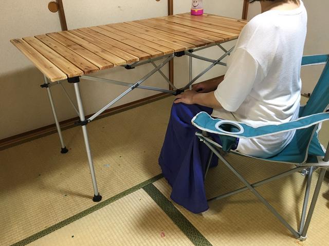 画像: 筆者撮影「ハイテーブルは、ハイチェアにぴったりの高さ」