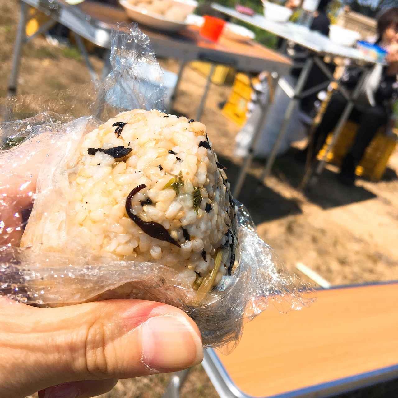 画像: 【レシピ2】具だくさんおにぎり ソロキャンプでは炊いたご飯・具材・海苔を持って行き現地で握る