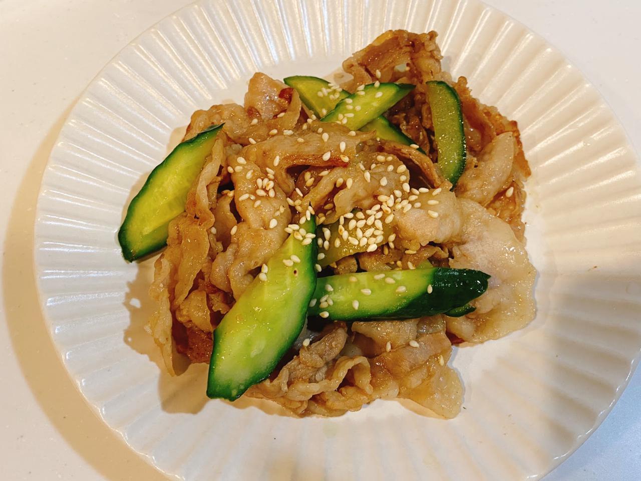 画像: やみつき夏レシピ⑤きゅうりと豚肉の中華風炒め