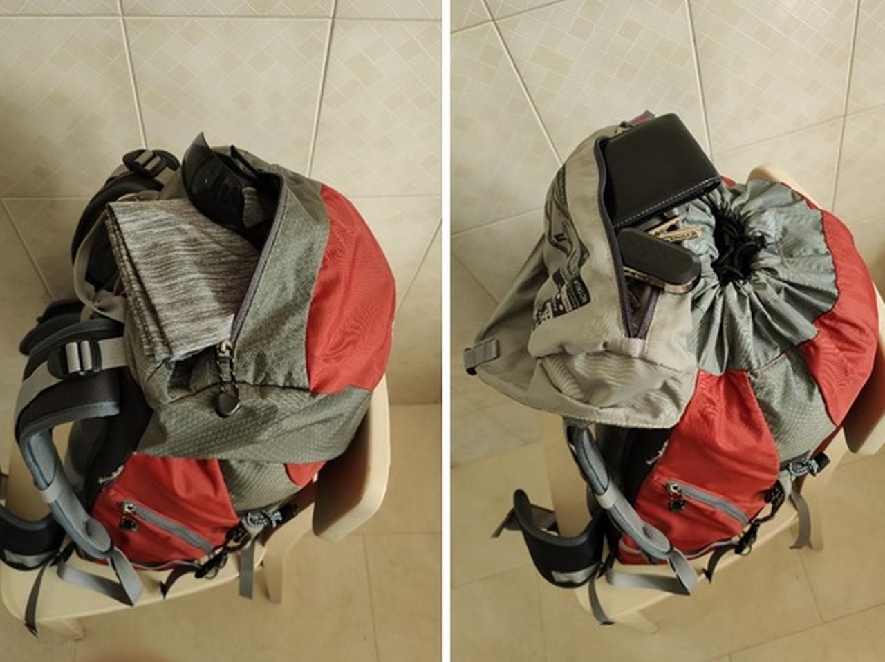 画像: 筆者撮影 内と外のポケット